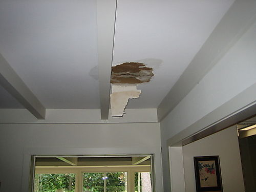 Leak inside from roof damage