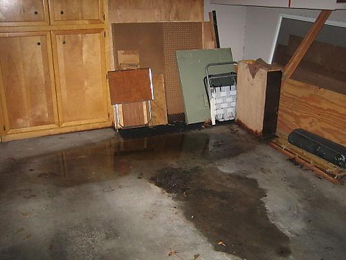 Water in garage