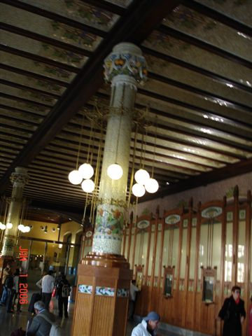 Pillar in train station