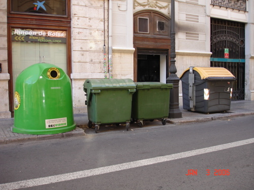 Recycling and Garbage Bins