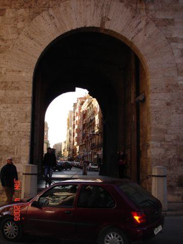 View through the Torres de Quart