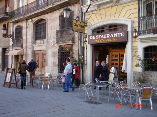 Restaurant in Valencia