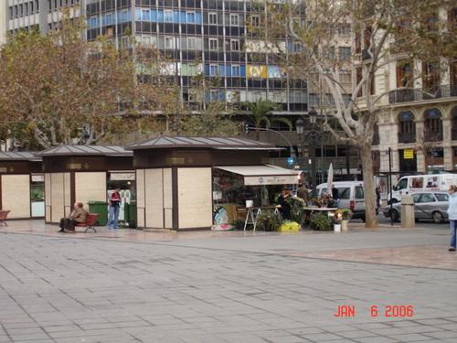 Flower Stalls in the Plaza del Ayuntamiento
